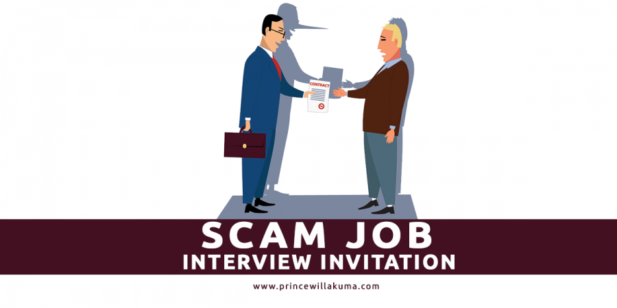 scam job interview invitation